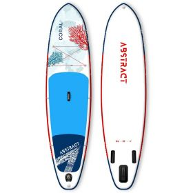 ABSTRACT CORAL 10'6''x32''x6'' lehký paddleboard s pádlem a leash