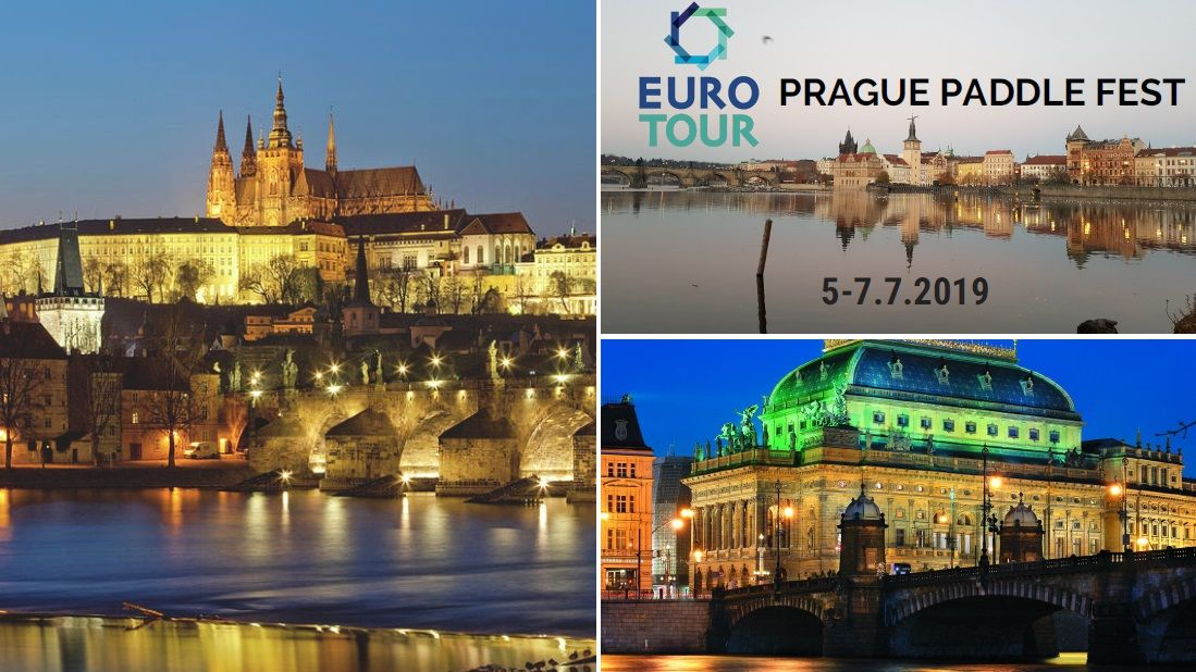 EuroTour_ Prague Paddle Fest 2019 Prague castle Charles bridge N